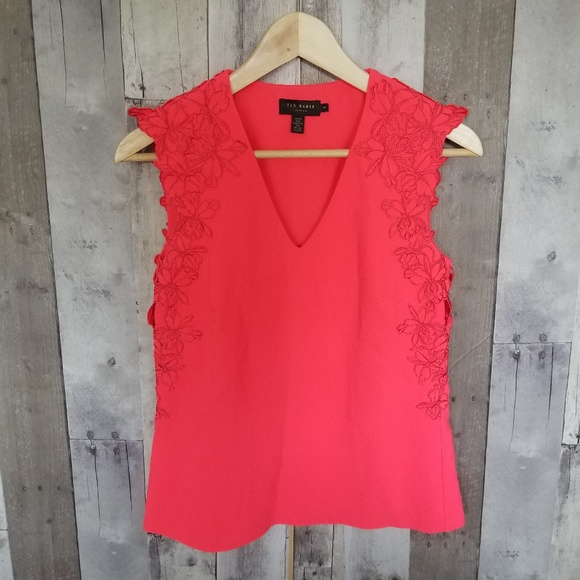 1ab1e9950b Ted Baker Tops | Neon Pink Sleeveless Top Size 1 | Poshmark